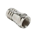 Vanco RG59 F Type Coax Cable Hex Connector 100 Pack Crimp-On Plug Silver RG-59 Antenna Video Data Connectors