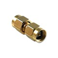 Eagle WF6024 SMA Male to SMA Male Barrel Coupling Gold Adapter Coaxial Connector with Gold Plated Contacts Commercial Grade Adapter Connector SMA Series Component Adapter