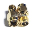 Eagle WF6027SMA Male to SMA-RP Female Coupling Barrel Gold Adapter Connector Gold Plated Contacts Commercial Grade Adapter Connector SMA Series Component Adapter