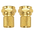Philips RG6 F-Type Twist-On Connector Gold Plated 12 Lot Pack PH61028 Digital Video Signal Component Coaxial Cable Tool Less Plug RG-6 Connectors, Part # PH-61028