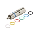 Steren 200-070-10 RCA Perma Seal II RG6 Quad Connector Nickle Plated Brass with 6 Color Bands 10 Pack RG-6 Quad Compression F Coaxial Cable to RCA Plug, Part # 200070-10