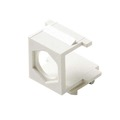 Eagle Hex Hole Blank Keystone Insert F-Type Module Wall Plate White QuickPort Audio Video Thru Port Snap-In Coaxial Cable TV Wire Run, Finished Opening Plug, Part # CATMIFBWHT