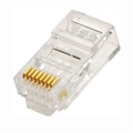 Steren 301-191-100 CAT6 RJ45 Plug Connector 100 Pack Modular 8 Conductor Beryllium Copper Jack Contacts 50 Micron Hard Gold Plating Over 89 Micron Nickle RJ45 8P8C, Part # 301191-100
