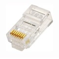 Steren 301-191 CAT6 RJ45 Plug Connector Modular Plug Connector 550 MHz 8P8C Gold Network Cable Data 50m Signal Snap-In Phone Line Plugs Telephone CAT5 & CAT5E Connectors for Solid Conductor, Part # 301191
