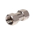 Steren 200-100 F Coupler Male to Male Adapter Connector Nickel Plate 1 Pack Double Male Splice F-71 Coaxial Cable Coupling Barrel Connector, RF Signal Audio Video Component Plug, Part # 200100
