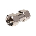 Steren 200-100-25 F Coupler Male to Male Adapter Connector Nickel Plate 25 Pack Double Male Splice F-71 Coaxial Cable Coupling Barrel Connector, RF Signal Audio Video Component Plug, Part # 200100-25