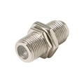 Steren 200-053-25 F Coupler Jack Female to Female Panel Mount Adapter with Nut and Washer Nickle Plate Coaxial F-81 Splice Connector Barrel 1 Pack Adapter Barrel Jointer Coupling Audio Video Coaxial Cable Plug Extension 25 Pack