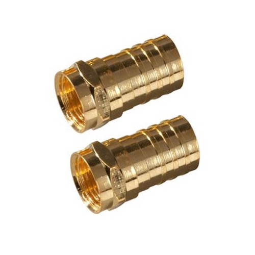 Marvelous Rg59 F Type Coax Connector Coax Cable Gold 10 Pack Philips Crimp On Wiring Database Denligelartorg