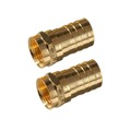 RG59 F-Type  Coax Connector Coax Cable Gold 10 Pack Philips Crimp-On M61034 Coaxial Cable TV Antenna Video Data Plug Connectors