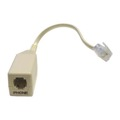 "Eagle DSL Filter In-Line Micro-Filter Single Line Phone RJ-11 Jack EZ Coupler with 3"" Cord, Static Noise for Improved Clarity, Part # DSLFILTER"
