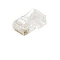 RJ12 Modular Plug 6P6C Gold Plate Stranded Connector 100 Lot RJ-12 Phone Plug Connectors 6 Pin Audio Data Signal Snap-In Telephone with Gold Contacts, Contractor Grade