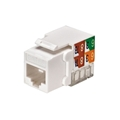 Eagle CAT5E Keystone Jack White RJ45 110 Punch Down Jack Connector Network 8P8C Cat-5e RJ-45 QuickPort 8 Wire Twisted Pair Modular Telephone Wall Plate Snap-In Insert Computer Data Network Telecom
