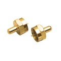 Eagle Terminator Cap Connector Coaxial Cable 75 Ohm Gold 2 Pack F-Connector Jack Digital Audio Video Signal, Part #M-61033