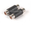 Eagle RCA-82 2 RCA Coupler Jack Splice Double Female Each End Opaque Component Gold A/V In-Line Coupler RCA Adapter Barrel Jack Splice 1 Pack Audio Signal Cable Joint Extender Patch Connector, Part # RCA-82