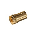 RG-6 Coaxial Cable F Type Connector Gold Crimp-On Single 1 Pack RG6 Magnavox M61027 Satellite Dish TV Antenna Video Signal Data Crimp Plug Connector, Part # M-61027