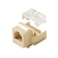 Eagle Cat3 Keystone Jack Ivory RJ12 RJ11 Ivory 6 Conductor 6P6C Phone Jack Insert Wall Plate Modular RJ11 Plug Connector 6 Wire QuickPort Snap-In Telephone Line, Gold Contacts for Data Signal Transfer