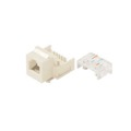 Channel Master AC3KJLA Light Almond CAT3 Snap-In Keystone Jack RJ12 6P6C 6 Conductor Telephone Insert RJ-12 CAT-3 Modular Plug QuickPort Snap-In Line with Gold Contacts for Signal Transfer, Part # AC3KJLA