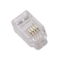 Eagle RJ22 Phone Handset Plug Connector 100 Pack Flat Stranded 4 Conductor Modular