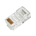 Eagle CAT5E Modular Crimp-On Plug Connector Round Solid RJ45 100 Pack 50 Micron Gold Plate 8 Position 8 Conductor 8P8C Male Network 8 Pin Computer Ethernet Data Telephone Line RJ-45 CAT-5E Plugs