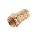 RG59 F Twist-On Connector Coax Cable Gold 1 Pack Single Magnavox Signal Plug Connector M61021 RG-59 Video, Part # M-61021
