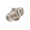 Steren 200-053 F Coupler Jack Female to Female Panel Mount Adapter with Hex Nut and Washer Coaxial F-81 Splice Connector Barrel 1 Pack Adapter Barrel Jointer Coupling Audio Video Coaxial Cable Plug Extension