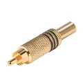 Eagle Gold Plated RCA Male Coaxial Connector RG59 Spring Relief Sleeve RCA Male Phono Audio Video Jack Plug Connector Solder Type RCA RG-59 Cable Adapter A/V Signal Connector