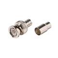 Eagle BNC Connector Male RG59 Coaxial 2-Piece Hex Crimp On Plug Commercial Grade Plug Adapter Crimp-On BNC Connector RG-59 Standard Converter