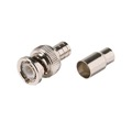 Eagle RG58 BNC Coaxial Connector Crimpon 2-Piece Plug Commercial Grade 50 Ohm Coaxial Male Plug Adapter Crimp-On BNC Connector Standard Converter, RF Digital Commercial Audio Video Coax Component