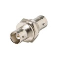 Steren 200-165 BNC Bulkhead Coupler Jack to Jack Female Panel Mount BNC to BNC Adapter Connector Commercial Grade 2 BNC Cables Double In-Line Splice 1 Pack Signal Cable Joint Extender, Part # 200165