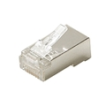 Steren 301-182 CAT5e Plug Modular Connector RJ45 Shielded Stranded Wire 8P8C 24-28 AWG UL Plug 8P8C 1 Pack Connector 8 Pin Male Network Data Telephone Line RJ-45