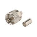 Steren 200-193 UHF Male Plug to RG59 Crimp-On Adapter Coaxial Connector UHF Plug to RG-59 Crimp-On Commercial Grade Nickel Plated with Delrin Insulator TV Antenna Satellite Components Plug, Part # 200193