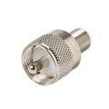 Eagle F Female to UHF Male Adapter Coaxial Connector Plug to F-Female Jack Adapter Coaxial Connector UHF Plug to F Jack Commercial Grade Nickel Plated with Delrin Insulator, Part # 200194