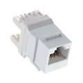 Steren 310-110WH-10 CAT 5E Keystone Jack Insert White 10 Pack RJ45 Connector CAT5e Network 8P8C RJ-45 QuickPort 8 Wire Twisted Pair Modular Telephone Wall Plate Snap-In Insert Computer Data Telecom, Part # 310110-WH-10