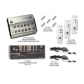Linear HDTV 4-Way RF Distribution System 12 Volt Starter Kit IR 4 Channel High-Headroom Modulator 8 Room Distribution 12V IR Amplifier, Video Modulator In-Wall Interfaces Dual Head IR Emitters, DC Blocking Capacitors