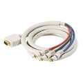 Steren 253-506IV 6' FT VGA HD-15 SVGA 3-RCA Male Cable Python D-Sub HDTV Gold Component RGB Ivory 24 K Gold Plate Color Coded Double Shielded Digital Signal Jumper, Part # 253506-IV