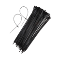 Eagle 15 Inch Cable Ties Black 100 Bag 50 Lbs Mounting Head Screw Hole