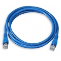 Eagle 7' FT CAT 6 Patch Cord Cable Blue 550 MHz 24 AWG Copper Snagless UTP Ethernet RJ45 Booted Molded Fast Media CAT6 RJ-45 Network Male to Male Category 6