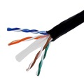 Eagle 1000' FT CAT6 UTP Riser Rated Ethernet Cable Black CMR Solid Copper
