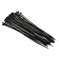 "Eagle 14"" Inch Cable Ties Black 100 Pack 50 lb Tensile Strength Self Locking Quick Wire Bundle Easy Lock Straps Audio Video Coax Satellite Dish Telephone Cat 5e Data Line Organizer Electrical UVB Cable Ties Black"