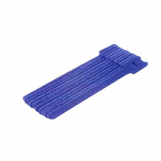 8 Inch Hook and Loop Reusable Strap Cable Cord Wire Ties 50 Pack Blue