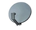 "24"" DIRECTV Satellite Dish Outdoor DBS / DSS Digital TV Antenna with Single LNBF Feed Receiver System and Rooftop Mounting Assembly, Works with Dish Network"