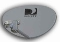 "DIRECTV DTV36EDS 36"" International Dish 95 W / 101 W Antenna Satellite FTA 36x24 Elliptical with Linear and Dual LNBFs, Digital Integrated for Simultaneous Reception, Free-to-Air, Part # DTV-36EDS"