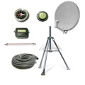 "Eagle 18"" Satellite Dish withTriPod Mount Kit RV Portable Mobile DIRECTV Camper Travel Digital Signal Quick Set Up LNBF Coaxial Cable Hook Up, Tail Gating"
