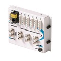 Steren 550-010 Fast Home Telephone / TV Hub Module Distributes 4 Phone Lines and Combines Distributes 2 CATV Lines to 6 Locations Standard 6X2 Mounting FastHome Media Audio Video Module, Part # 550010