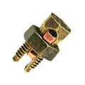 Eagle Split Bolt Connector SBC-8 Solderless Lug 8 Gauge Copper / Brass Electrical Lightning Cable Ground, Wire Splice Adapter UL Clamp, Part # SBC8