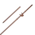 "Eagle Aspen 4' FT Ground Rod Copper Plate 3/8"" In Diameter Bonded DIRECTV Approved Grounding Rod 4 Foot Antenna Electrode Satellite Dish TV Aerial Electrical Wire Ground / Lighting Rod with Clamp, Part # GR-0004"