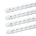 CNSUNWAY LED Tube Light Bulb T8 R17D HO Dual Pin No Ballast 8' FT Clear 45 Watt Single Row 6000K Direct Wire Bypass