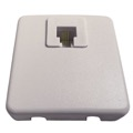 Leviton Telephone Block Box White 6 Position 4 Wire Conductor Surface Mount Modular Plug Connection Jack, Part # C0245-W