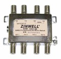 Zinwell SAM-4402-3A 4x4 Satellite Multi-Switch Dish Outdoor Antenna Digital Signal 4 Receiver Distribution MultiSwitch, DIRECTV Approved, 13 - 18 Volt, Part # SAM4402-3A