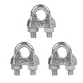 Eagle U-Bolt Cable Clamp Guy Wire 1/8 U-Bolt Fit Up to 1/4 Cable 3 Pack Zinc Plated Antenna Mast Support Fastener CM3095 HDTV Antenna Mount, Part # CM-3095